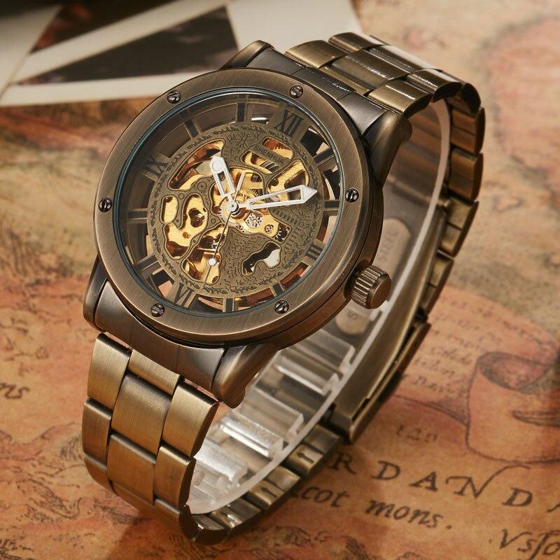45Off Marke Hohl Band Retro Bronze Luxus shenhua Top Mens Steampunk Armbanduhren Automatische Einzigartige Stahl Us17 99 Mechanische Uhren NkP8XwOn0