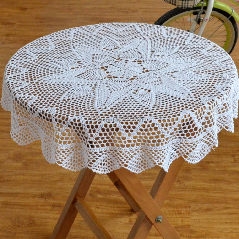 Free Shipping Luxury Round Tablecloth For Home Decor Wedding Table