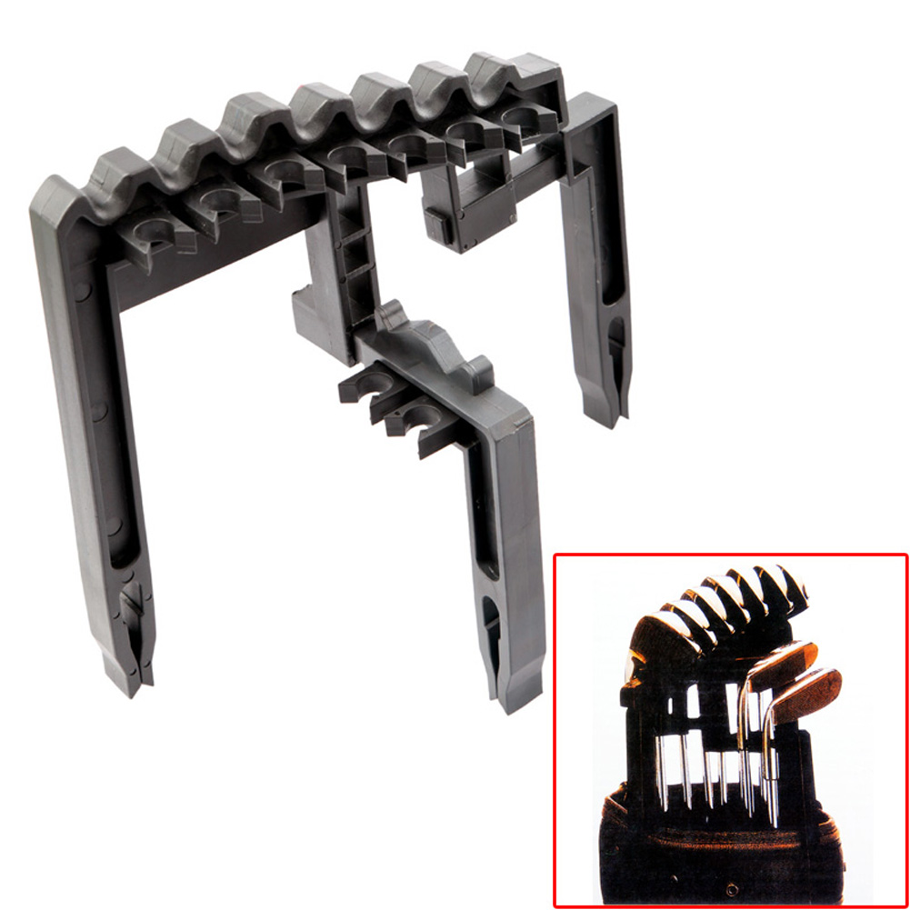 9 Iron ABS Golf Club Organizer Shaft Holder Stacker Golf Training Iron Holder Golf Practice Accessories Fit Any Size Of Bag