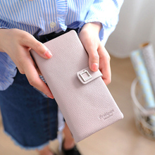 New Purse Women Wallets Long Clutch Bag PU Leather Female Coin Designer Brand Phone Card Holders High Quality