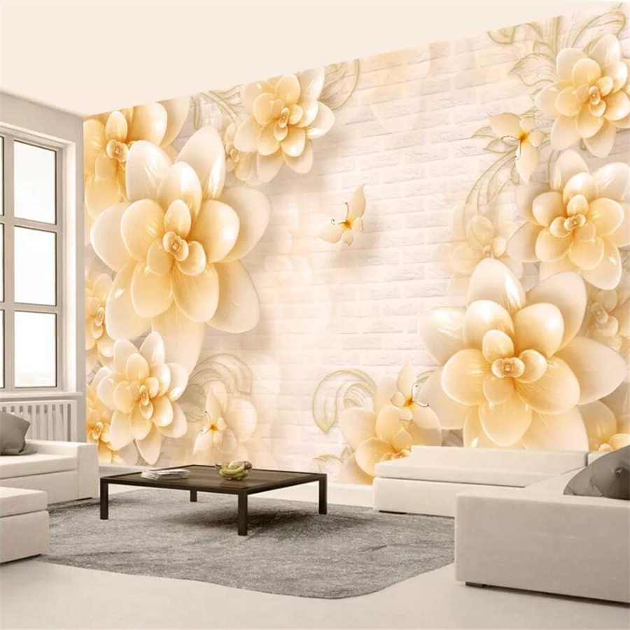 extraordinary european style living room design 3d house free pictures | beibehang Custom Wallpaper 3d Mural Relief Beige Flower ...