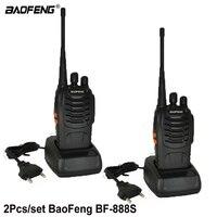 2 PCS Baofeng BF 888S Walkie Talkie bf 888s 5W Two way radio Portable CB Radio UHF 400 470MHz 16CH Professional taklie walkie
