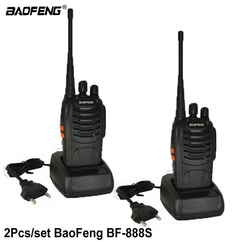 2 pcs Baofeng BF-888S Talkie Walkie bf 888 s 5 w Deux-way radio Portable CB Radio UHF 400 -470 mhz 16CH Professionnel taklie talkie