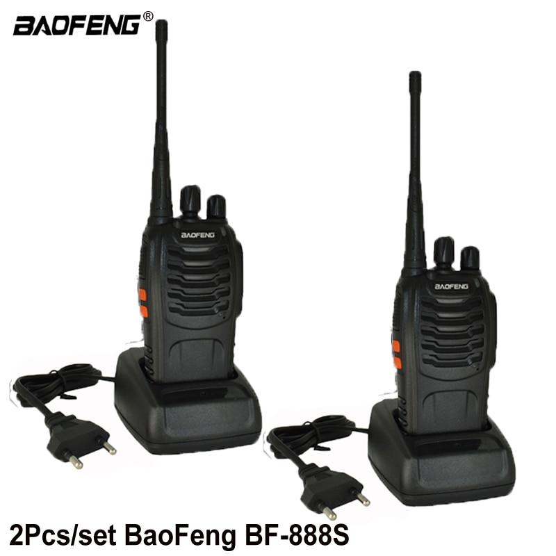 2 pz Baofeng BF-888S Walkie Talkie bf 888 s 5 w Two-way radio Portatile CB Radio UHF 400 -470 mhz 16CH Professionale taklie walkie