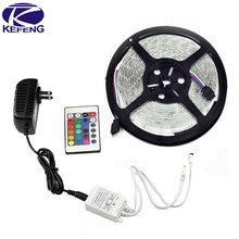 Waterdichte 5 M 3528 RGB Wit 300 Leds Led Strips licht en 24Key IR Controller en 12 V 2A Power supply 60 Leds/m EU VS AU UK plug(China)