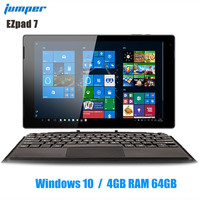 Jumper Ezpad 7 2 в 1 планшетный ПК 10,1 дюймов Windows 10 1920*1200 Cherry-T Z8350 четырехъядерный 1,44 ГГц 4 Гб ram 64 Гб eMMC 6500 мАч планшет