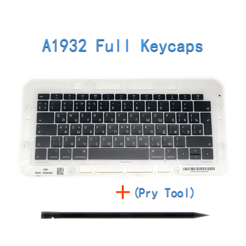 """Image 4 - Original A1706/A1707/A1708 Russian Keycaps For Macbook Pro/Air Retina 13"""" 15"""" A1932/A1990/A1989 RU Keys Replacement Keyboard-in Replacement Keyboards from Computer & Office on"""