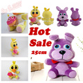 "2016 Hot Sale In Stock Official Five Nights At Freddy's 4 FNAF Bonnie Foxy Freddy Fazbear Bear Plush Toys Doll 10""Free Shipping"