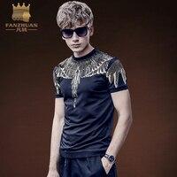 FANZHUAN Featured Brands Clothing Summer Fashion Bronzing Design T Shirt Fashion Short Sle Eves Men S