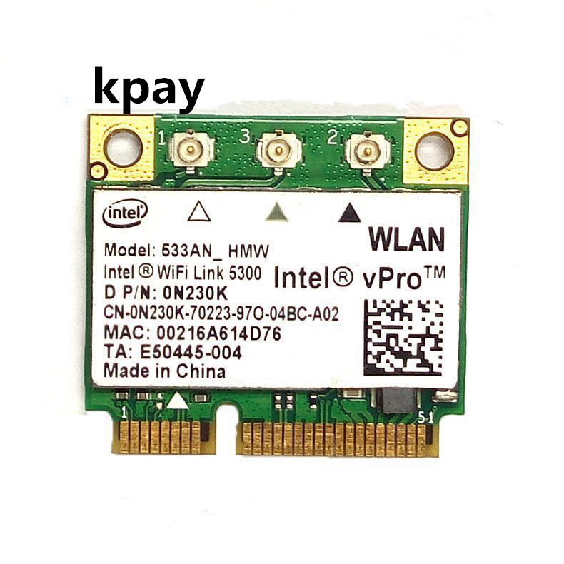 Intel WiFi Link 5300 533AN_HMW 5300AGN 0N230k 802.11a/g/n 2.4G & 5G 450Mbps mini PCI-E para Dell Toshiba Acer ASUS Shenzhou Laptop