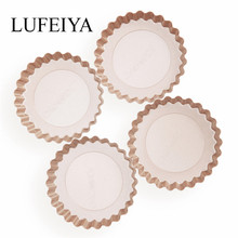 4PC Mini Non-stick Round tarte Tart 4-inch Quiche baking form tray Pan Removable Bottom Pie Cake tin Mold bakeware