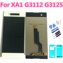5.0'' For Sony Xperia XA1 LCD Display Touch Screen Digitizer Assembly Replacement G3116 G3121 G3112 For 5.0 SONY XA1 Dual LCD смартфон sony xperia xa1 dual g3112 pink