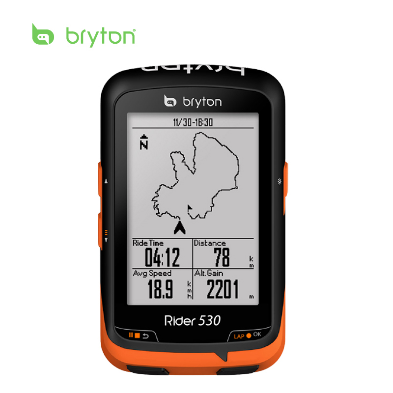 Bryton Rider 530 GPS Bicycle Bike Cycling Computer & Extension Mount with ANT+ Speed Cadence Dual Sensor Heart Rate Monitor magene ant usb transmitter receiver compatible garmin sale bicycle computer cycle usb ant stick bluetooth speed cadence sensor