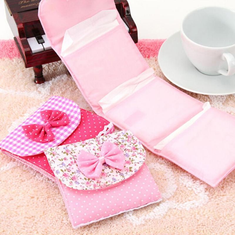 1Pc Women Girls Menstrual Pads Menstrual Bowknot Cotton Sanitary Towel Napkin Pad -2509