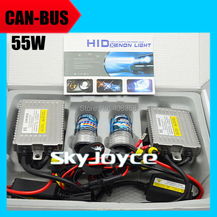 3sets DHL shipping canbus hid kit 55W 12V AC quality no error hid ballast system error free hid set 4300K-8000K single beam bulb