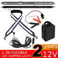 12V 1.3m Flexible LED Camping Light 5050 SMD Caravan Boat Waterproof Bar Strip