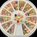 Nuevo Llega La Moda Colorized Rhinestones Para Uñas Aleación de Oro Brillo Del Arte Del Clavo Clavos Pegatinas de Decoración de La Joyería de Herramientas de Manicura