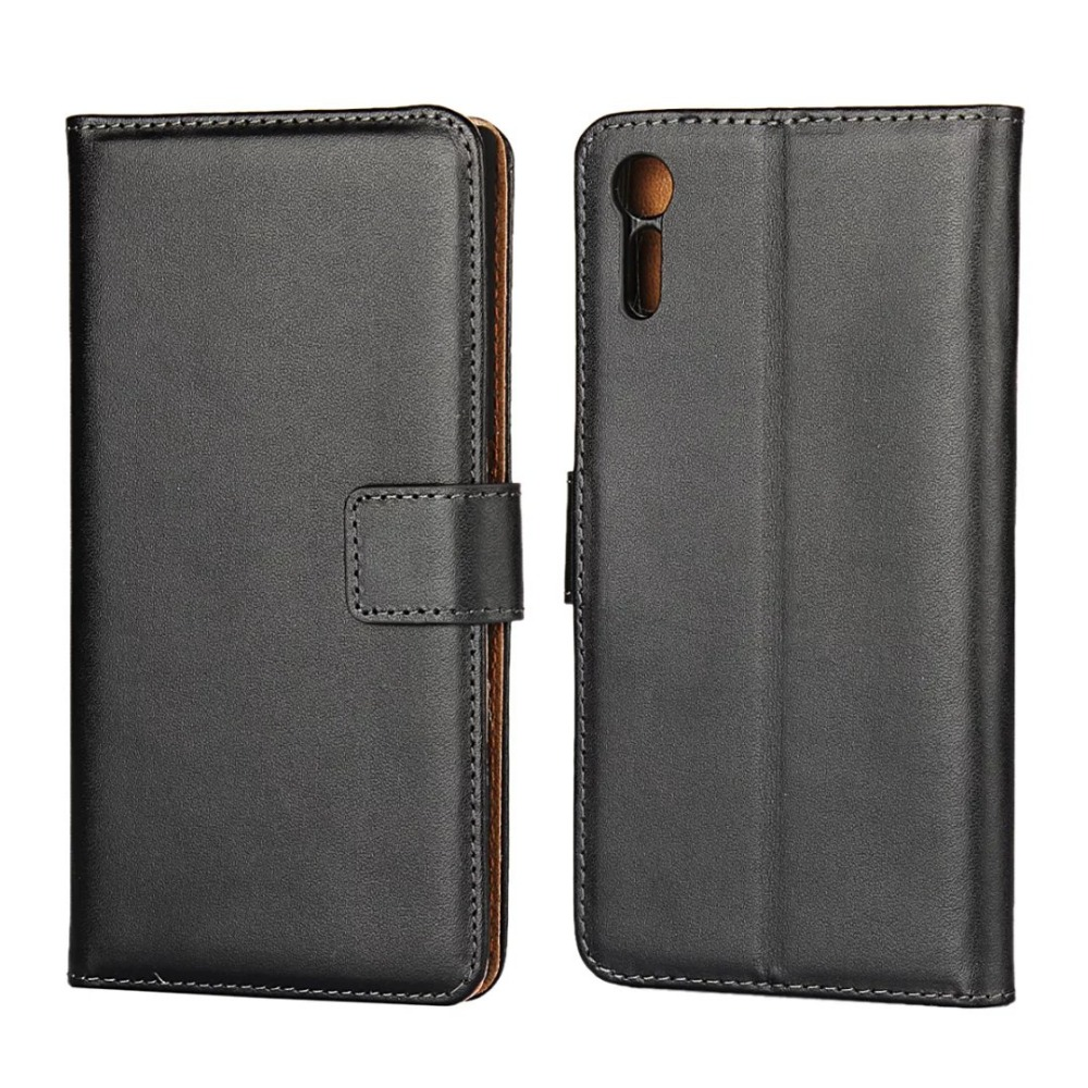 For Sony Xperia XZ Case 5.2 Inch Genuine Leather Flip Cover Wallet Stand Phone Bags Cases for Sony XZ Fundas Shell with Card Hol