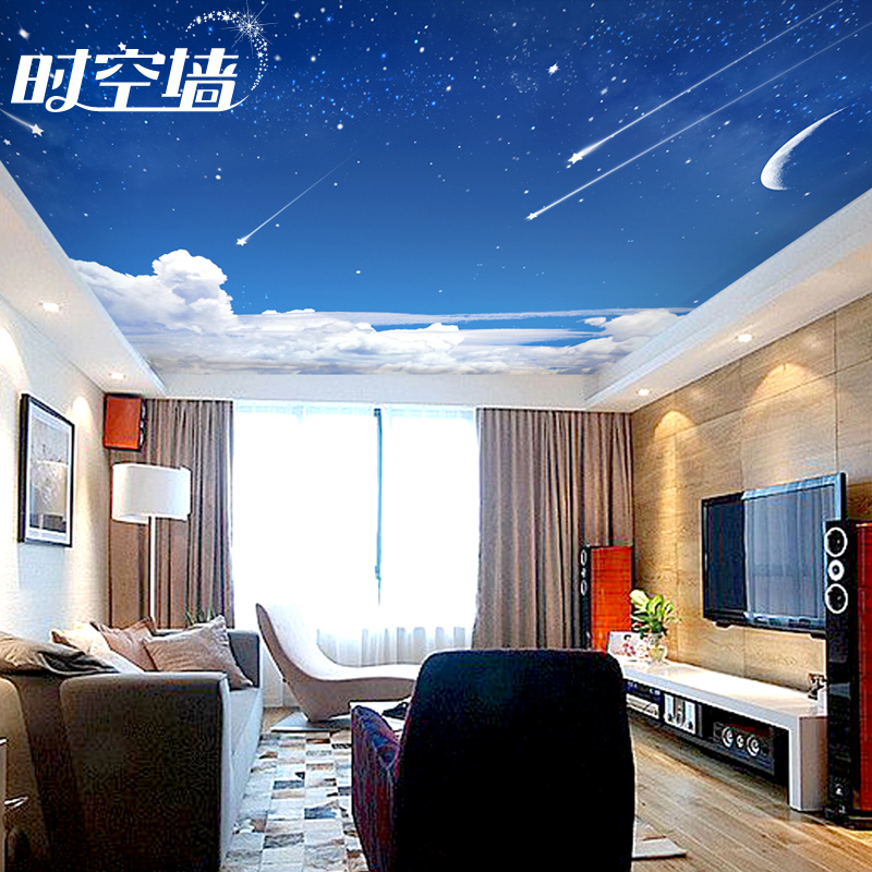 3d Wall Paper Ceiling Wallpaper Space Time Background