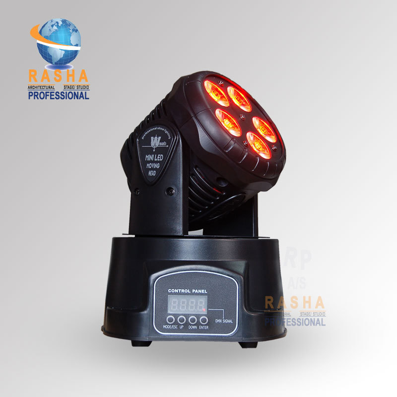 Rasha Top Selling NEW ARRIVAL 5in1 5*15W RGBAW Mini LED Moving Head Wash Light,Stage Moving Head for Disco Party niugul dmx stage light mini 10w led spot moving head light led patterns lamp dj disco lighting 10w led gobo lights chandelier