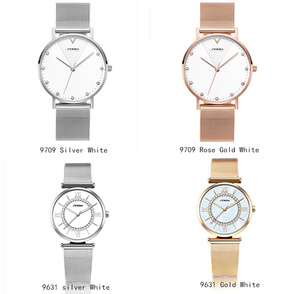 Image 3 - SINOBI Fashion Golden Women's Diamonds Wrist Watches Top Luxury Brand Ladies Geneva Quartz Clock Female Bracelet Wristwatch 2017-in Women's Watches from Watches