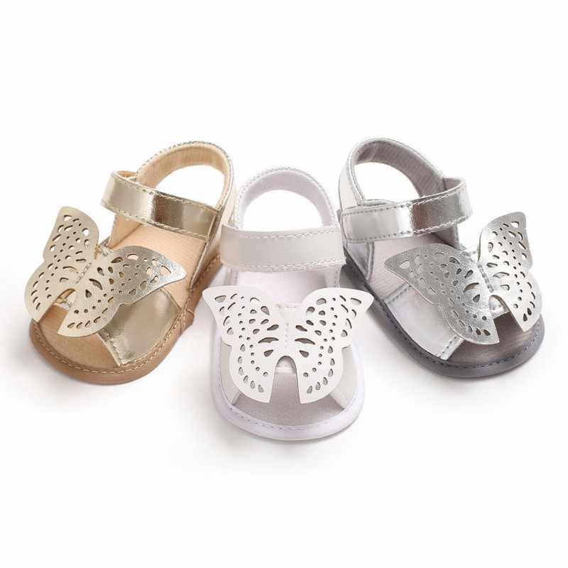 7cdb0a9a102 2018 verano bebé niña Sandalias lindo mariposa modelos princesa Casual  suave sandalias de moda de los