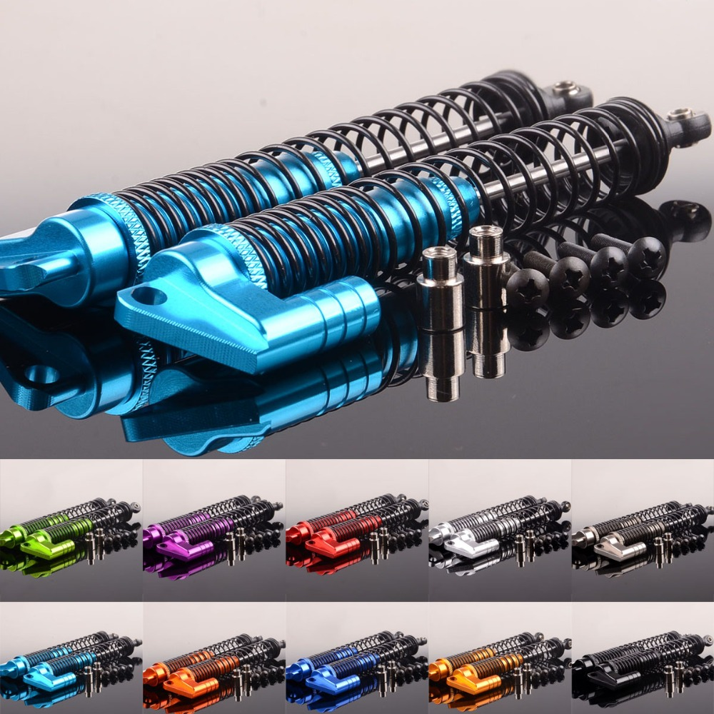 2pcs RC Rock Crawler Double Suspension Adjustable Shocks 130mm S180007 For HSP Redcat Wltoys HPI