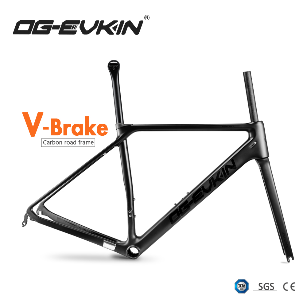 OG-EVKIN CF-025 Carbon Road Frame V-Brake Bicycle Frame BB86 Carbon Frame Di2&Mechanical Bike Frame Telaio Carbonio Strada 2019