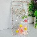 Luxo bling phone case para iphone 7 plus 4S 5S 6 6 s 6 plus Rhinestone Diamante de Cristal da borboleta de Plástico Rígido Tampa Traseira Do Telefone