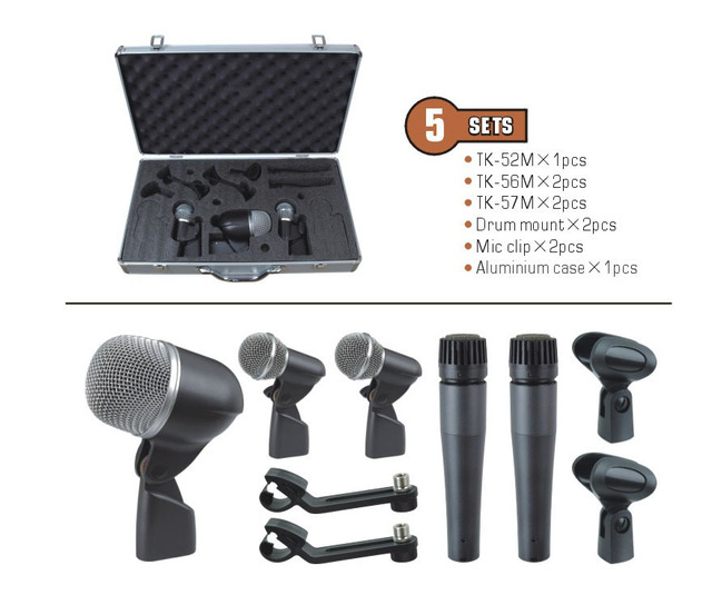 Hot selling! Drum Mic set professional condenser microphone Set recording microphone