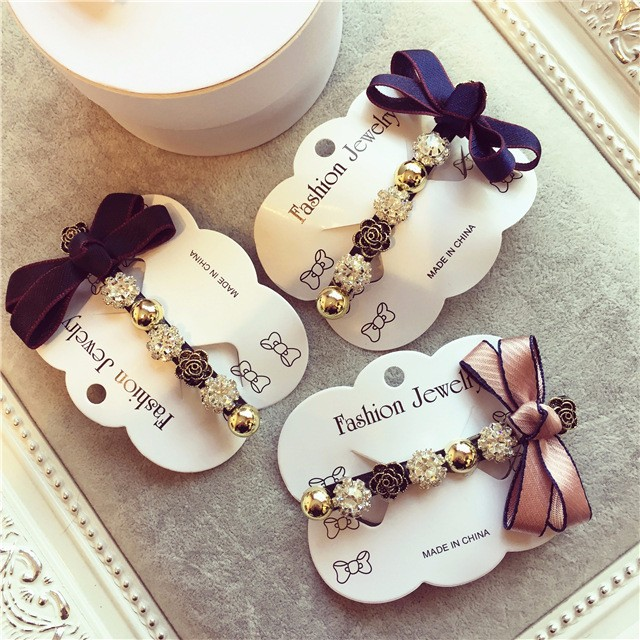 Back To Search Resultsapparel Accessories Generous Korea Hair Accessories For Girls Hand Made Retro Diamond Flower Hair Clips For Women Hairgrips Hairpins