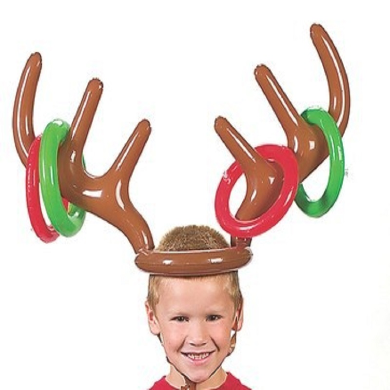 Christmas Decoration Antlers Children Outdoor Toys Throwing Game Parent-Child Inflatable Christmas Gift Kids Toy enviromentally ...
