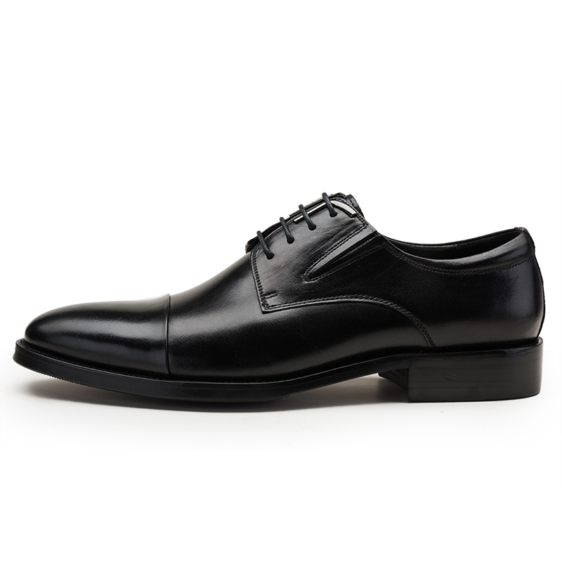 Top Quality Business Men Cow Real Leather Shoes Black Brown Oxfords for Man Work Dress Footwear Wedding formal shoes top quality crocodile grain black oxfords mens dress shoes genuine leather business shoes mens formal wedding shoes