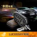 Авто аксессуары для Toyota Land Cruiser Автомобиль Специальный Кожа ключа автомобиля чехол обложка сумка, дистанционный Ключ сумка + Кольцо