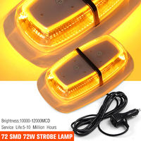 JXLCLYL 72LED Car Truck Roof Top Emergency Warning Flashing Strobe Light Amber