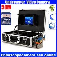 Портативный 50 м 600TVL Камера HD Цвет подводный видео монитор с DVR для рыбалки/изучение, DVR рыбы Камера, водонепроницаемый Камера