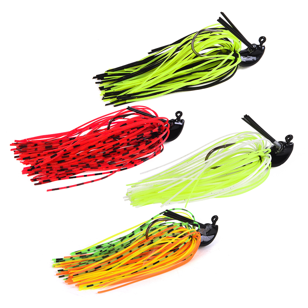 LEO 7g / 10g Fishing Lure Buzz Bait Silicone skirt Lures Spinner bait Artificial  with Jig Head Hook Mixed Color for Pesca