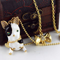 Fashion necklace 2016New fashion pure and fresh and restore ancient ways contracted 131011 black and white dog women's necklace