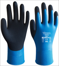 Gardening Safety Gloves Water Proof 13 Guage Nylon With Latex Sandy Coated Garden Work Glove
