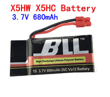 Wholesale 3.7V 680mAh 25C Lipo Battery For Upgraded Syma X5HW X5HC RC Quadcopter Helicopters