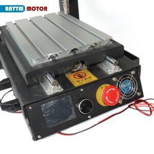 Image 5 - 3 оси 2030 маршрутизатор с ЧПУ для настольного компьютера Гравировальный фрезерный станок с аварийной остановкой высокопрочная сталь + 400 Вт шпиндель