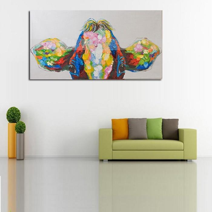 Peinture à L Huile Sur Toile Mur Photos Pour Salon Art Toile