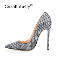 Brand Shoes Woman Snake Printed Women Shoes Sexy High Heels Pumps Pointed Ladies Party Wedding Shoes Women Pumps Stilettos