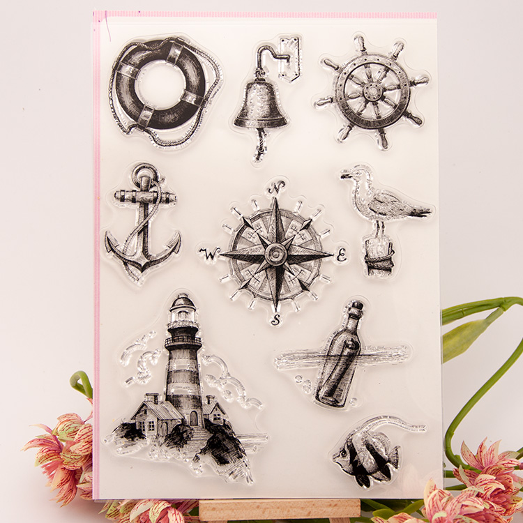 Scrapbook DIY album cards PDA transparent silicone rubber seal stamp chapter finished sailing background YJ6618 flower scrapbook diy photo cards rubber stamp clear stamp seal hand finished chapter transparent account for wedding gift t 0214