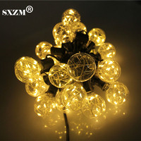 Holiday Lighting E10 5.5M 25LED Copper bulb LED string light Waterproof Outdoor Street Garden yard decoration fairy lamp