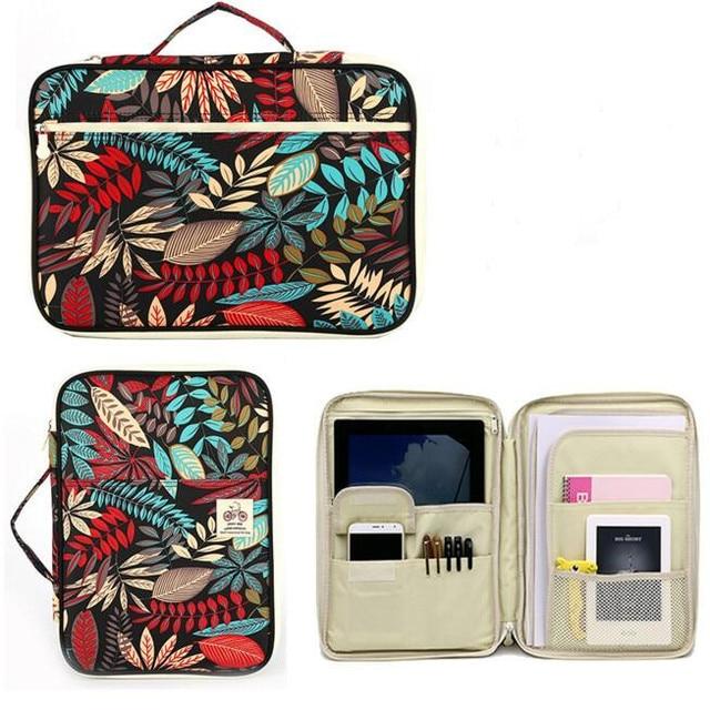 مقاوم للماء قماش A4 مجلد ملفات منظم وثائق حقيبة مجلة كتاب مجلد حقيبة التخزين للرجال النساء مكتب حقيبة أعمال هدية