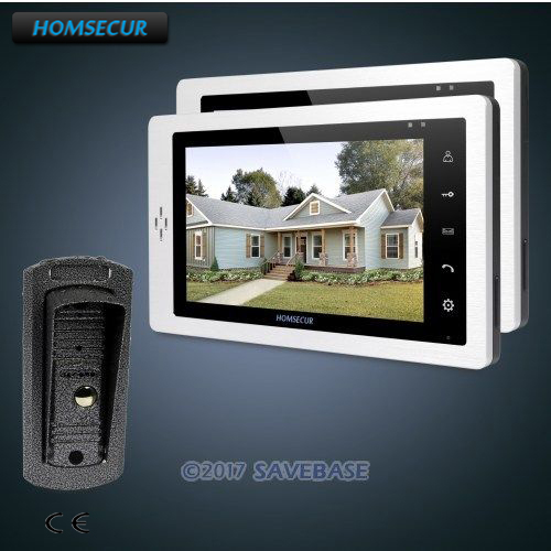 HOMSECUR 7 Wired Video&Audio Home Intercom+Metal Case Camera for Home Security 1V2