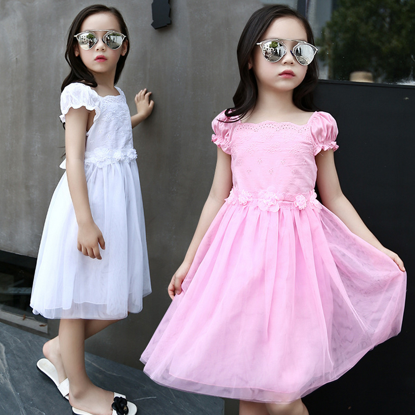 2017 flower girl dress for party and wedding summer girls dresses toddler kids clothes clothing birthday 3~14 year fashion MC69 girls dress 2017 new summer flower kids party dresses for wedding children s princess girl evening prom toddler beading clothes
