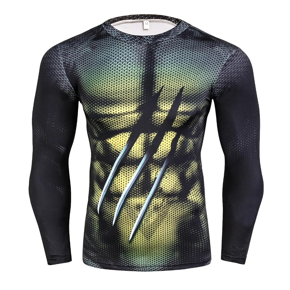 Hot Sale Spiderman Ironman Superman Captain America X-Man Punisher Marvel Compression Men T Shirt Avengers Superhero Top T-Shirt