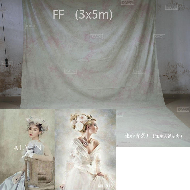 Professional 3X6mTye-Die Muslin photographic background,100% hand made cotton wedding photography photo studio backgrounds FF